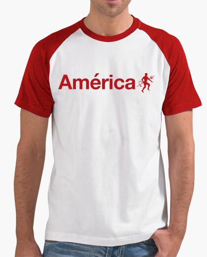 Camiseta America Letras y Diablo