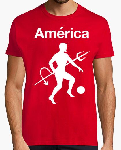 Camiseta America y Diablo Grande rojo