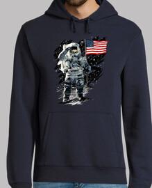 American Astronaut Moon Landing