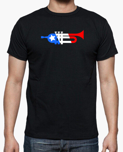 American Flag Style Trumpet t-shirt