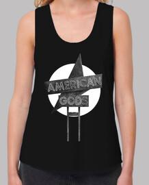 American Gods - Blanco y Negro - Mujer, tirantes anchos & Loose Fit, negra
