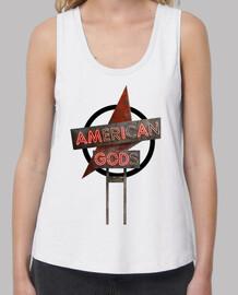 American Gods - Mujer, tirantes anchos & Loose Fit, blanca