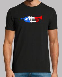 american trompette style de drapeau