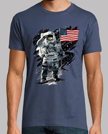 americana astronauta moon di atterraggio
