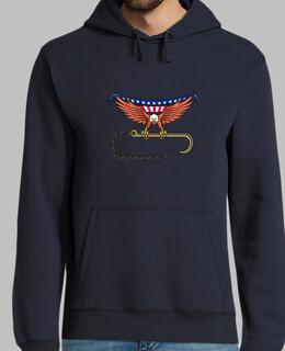 amerikanischer Adler der schleppenden H