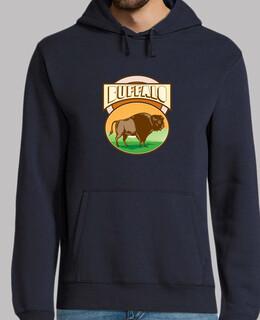 Amerikanischer Bison Büffel Oval Holzsc