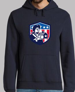 amerikanischer Patriot der Hausflagge c