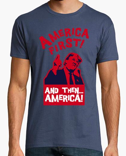 Tee-shirt amérique premier and ensuite un amérique