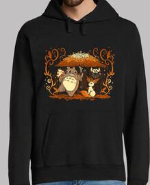amici autunno foresta mens hoodie