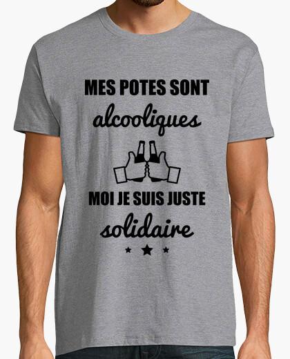 Camiseta amigos alcoholicos humor alcohol