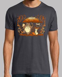 amigos del bosque de otoño camisa para hombre