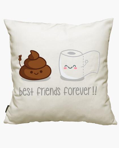 Housse de coussin amis pour toujours!