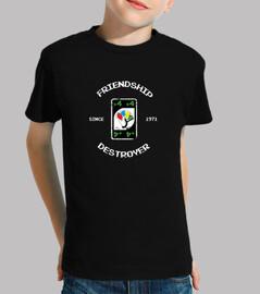 amistad destructor camiseta infantil