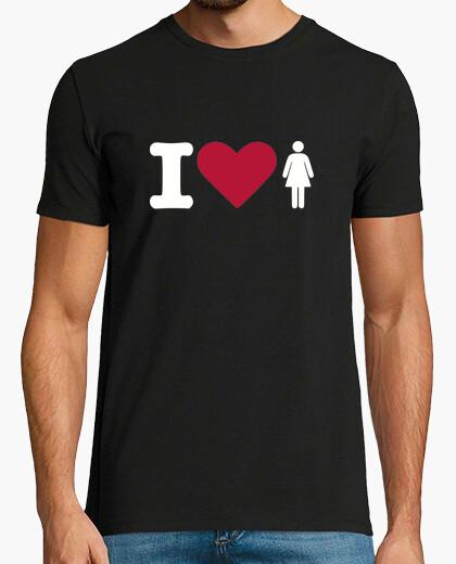 Camiseta amo a las mujeres - corazón