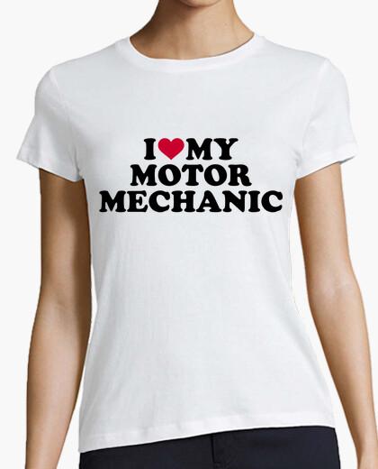 Camiseta amo a mi mecánico de motores