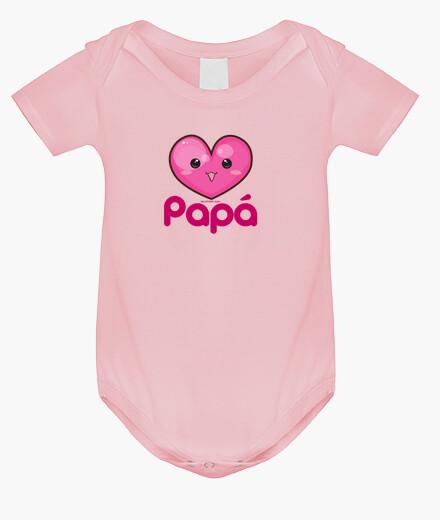 Ropa infantil Amo a mi Papá Rosa