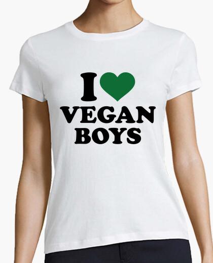 Camiseta amo a muchachos veganos
