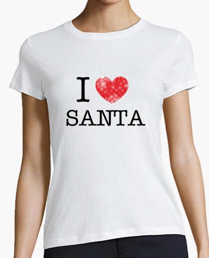 Camiseta amo a santa - mujer