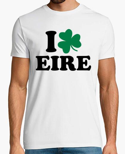 Camiseta amo eire irlanda trébol
