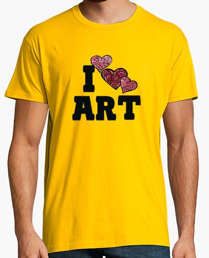 Camiseta amo el arte