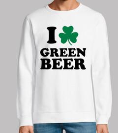 amo el trébol de cerveza verde