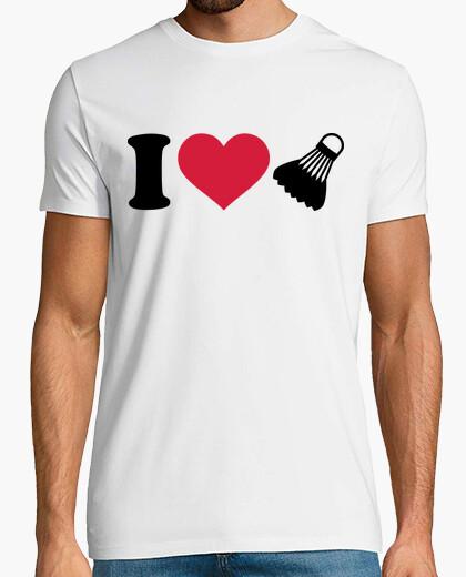 Camiseta amo el volante de bádminton