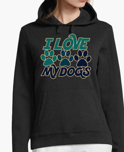 Felpa amo il mio cane amante dei cani