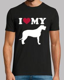 amo il mio irlandese Wolfhound