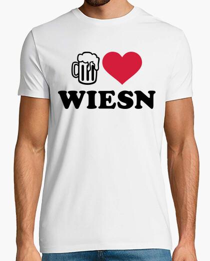 Camiseta amo la cerveza oktoberfest wiesn