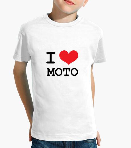 Ropa infantil amo la motocicleta / motociclistas