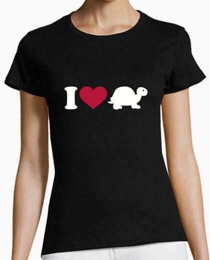 Camiseta amo la tortuga