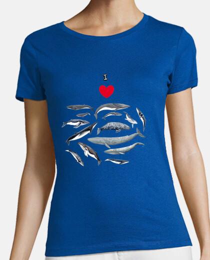 Amo las ballenas camiseta