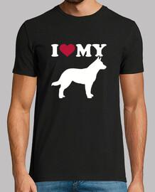 amo mi silueta de perro de ganado austr