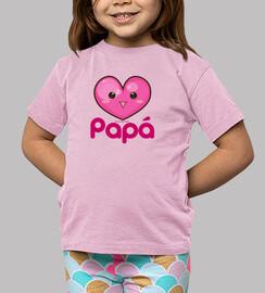 amo mio papà rosa