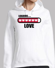 amor cargando corazones