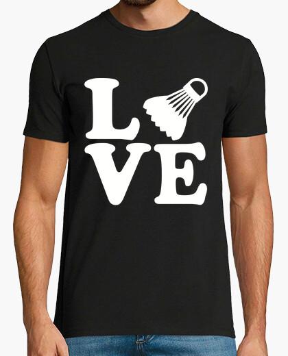 Camiseta amor de bádminton