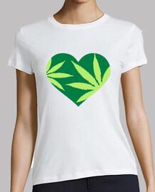 amor del corazón de la marihuana