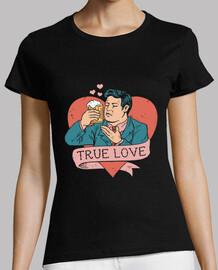 amor en cerveza vista camisa para mujer