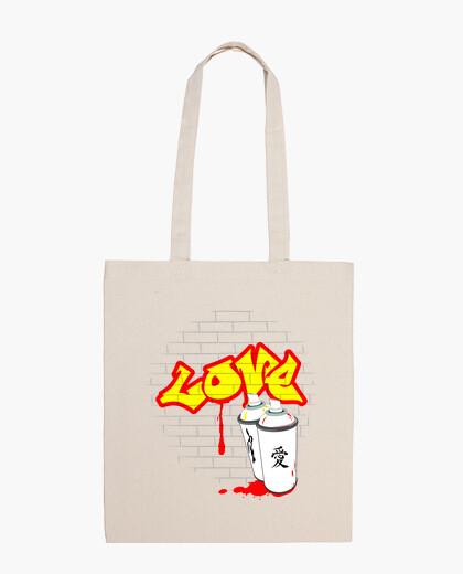 Bolsa amor graffiti