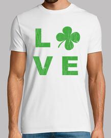 amor irlandés verde cuadrado