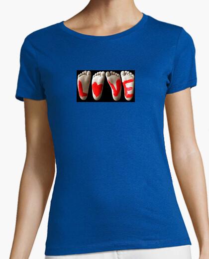 Camiseta AMOR pies