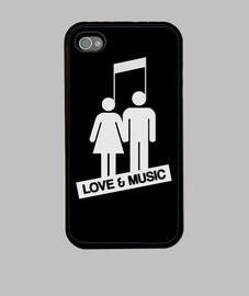 amor y música - negro