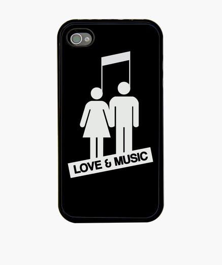 Cover iPhone amore e musica - nero