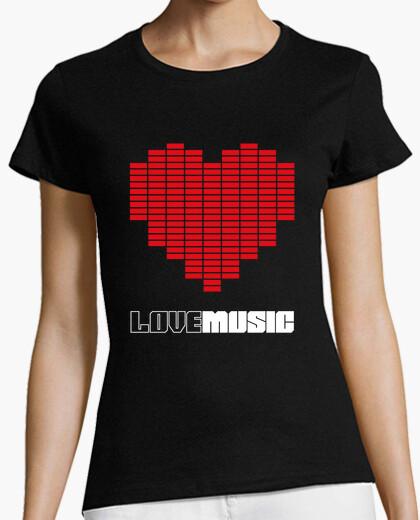 T-shirt amore la musica