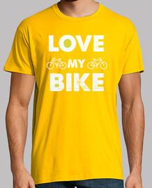 amore mia t-shirt men sports bici