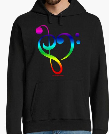 Felpa amore re il mio rainbow