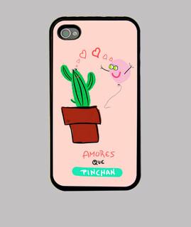 Amores que pinchan, Funda iPhone 4, negra