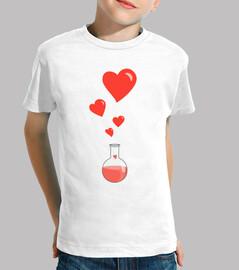 amour chimie flacon de cœur geek blanc