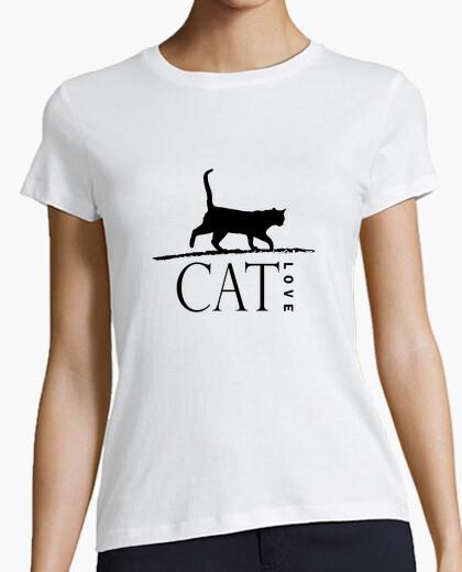 Tee-shirt amour de chat