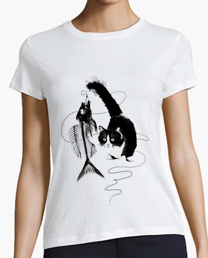 Tee-shirt amour de chat-animal de pêche